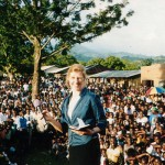 Speaking at a Harvest Ministry Outreach in Uganda