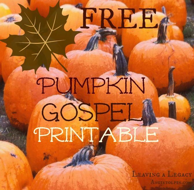 Sly image with regard to pumpkin gospel printable